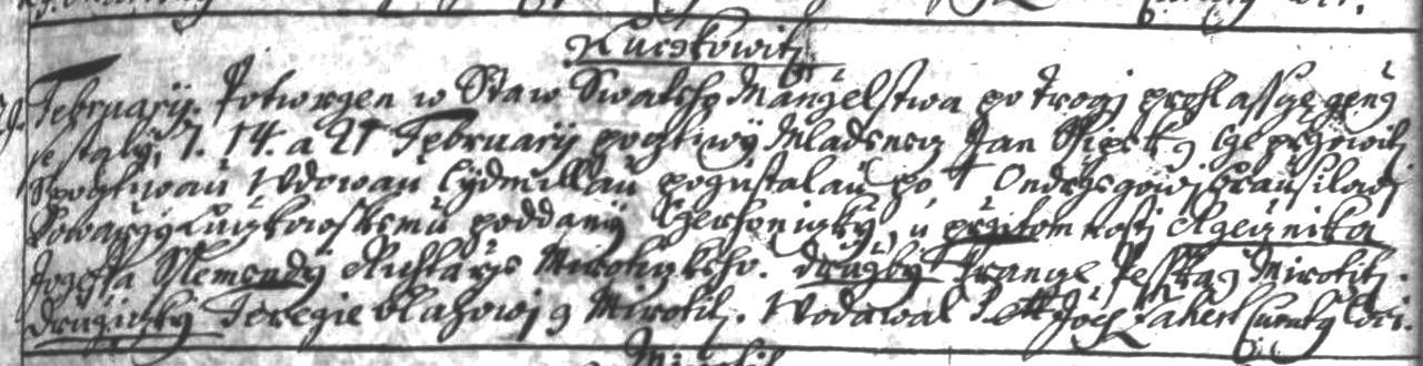 Nejstarší písemný záznam o rodině Síbkových je 29. 2. 1740.